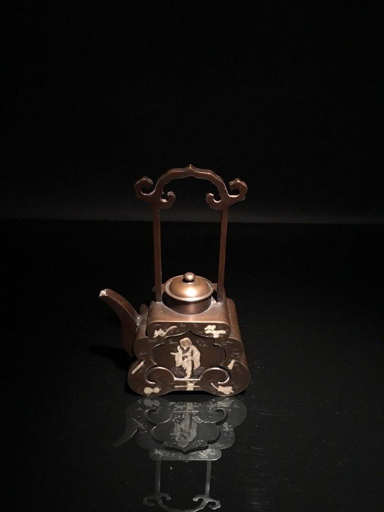 Chinese Bronze Teapot - 4
