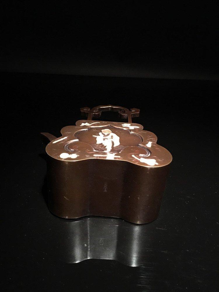 Chinese Bronze Teapot - 5