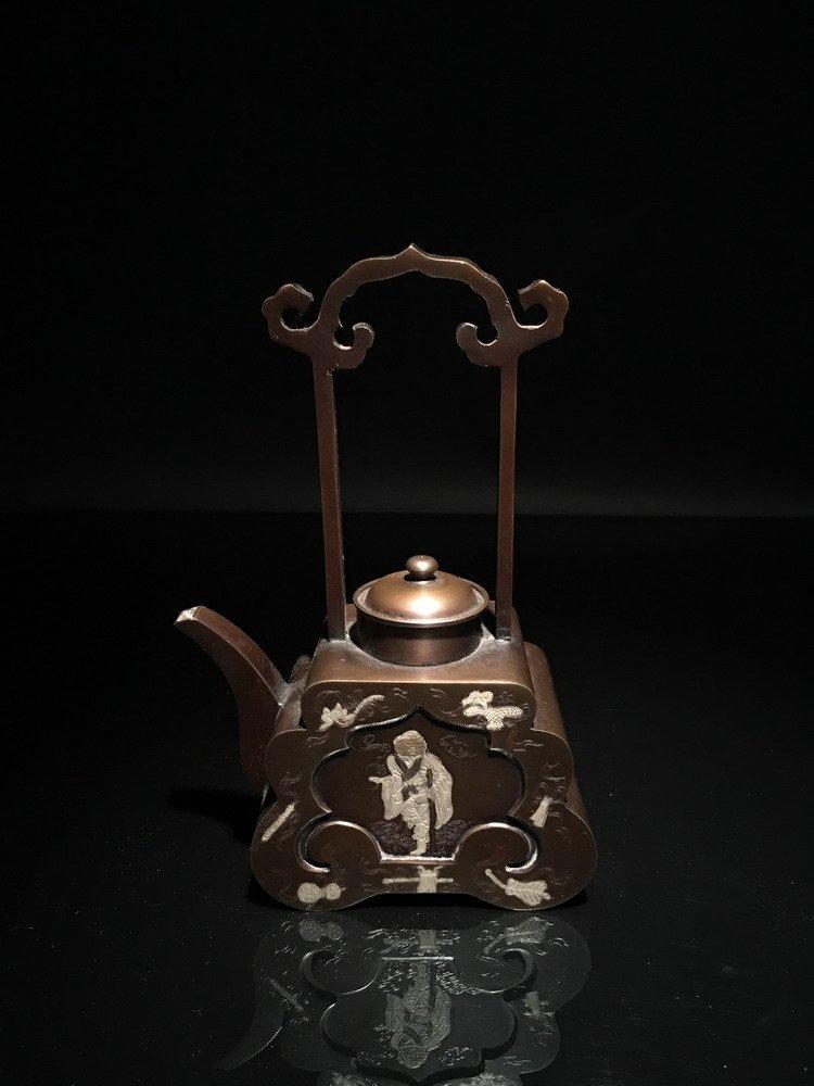Chinese Bronze Teapot - 7