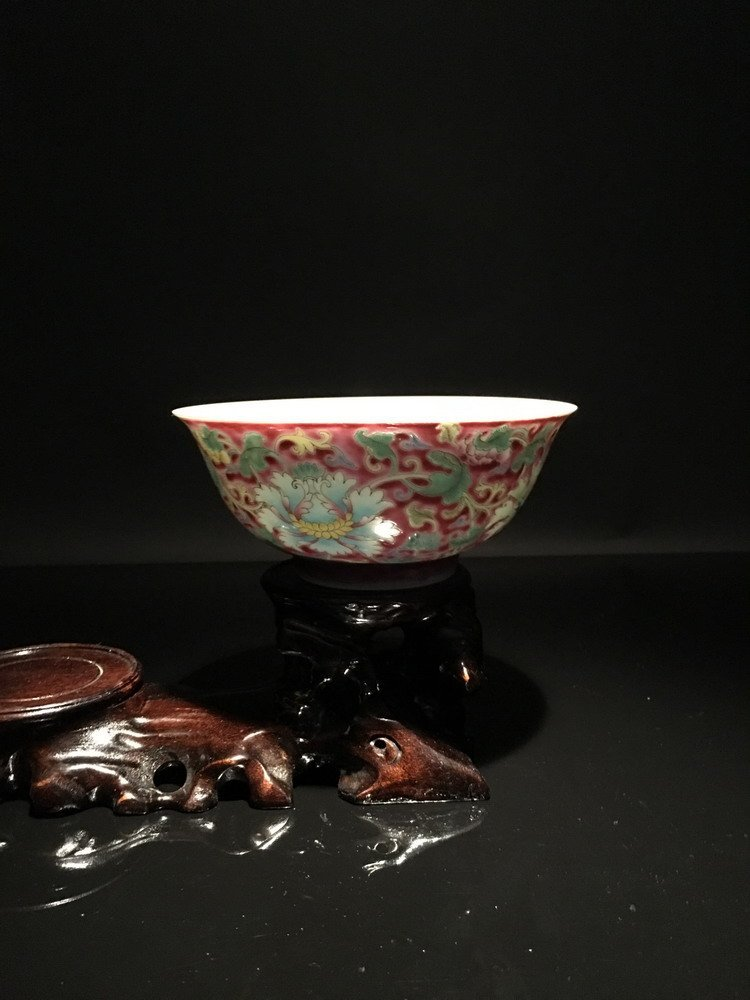 Fine Famille Rose Bowl with Kangxi Mark