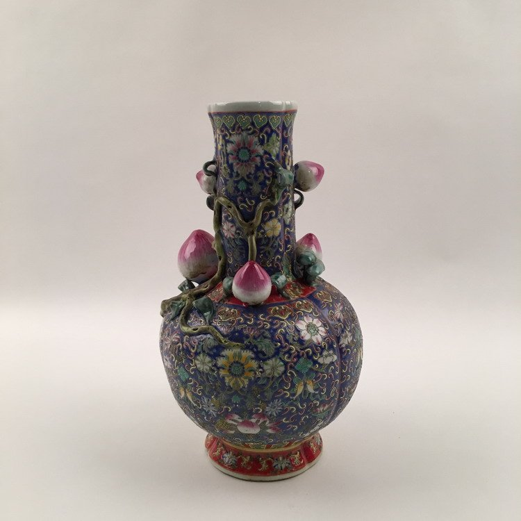 Fine chinese Famille Rose Vase - 3