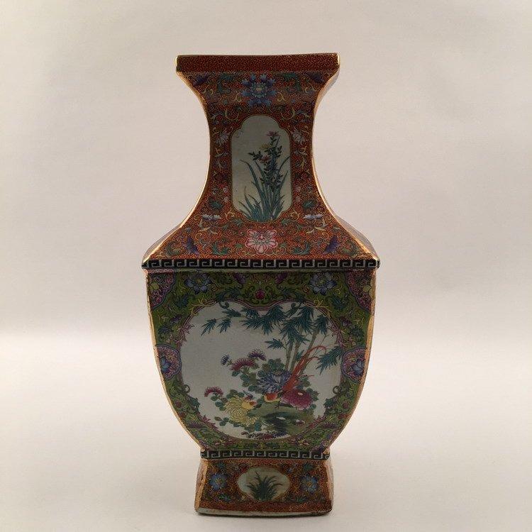 Fine Chinese Familla Rose Vase