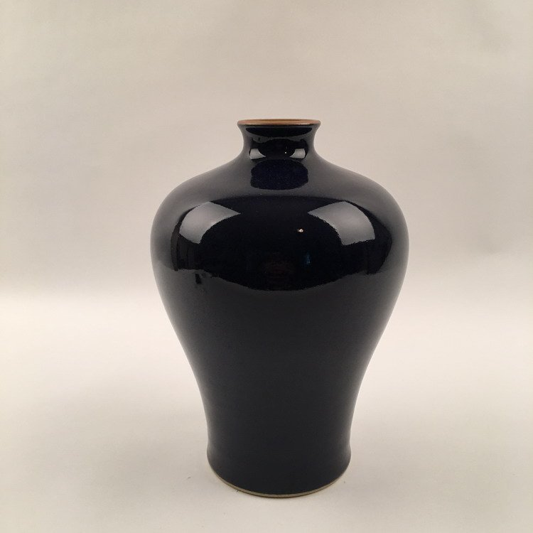 Chinese Black Glazed Meiping Vase