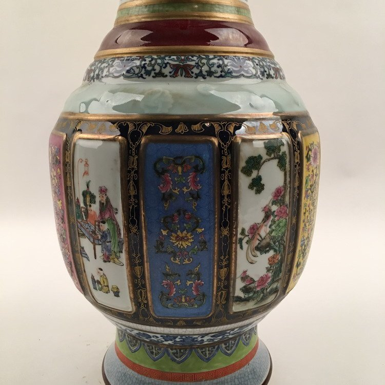 Chinese Famille Rose Vase - 5