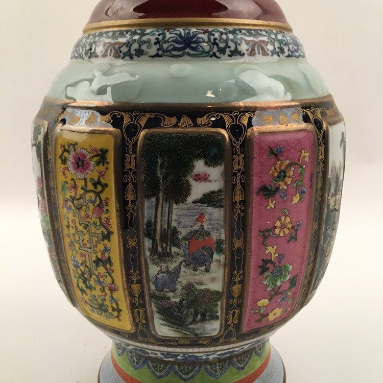Chinese Famille Rose Vase - 6