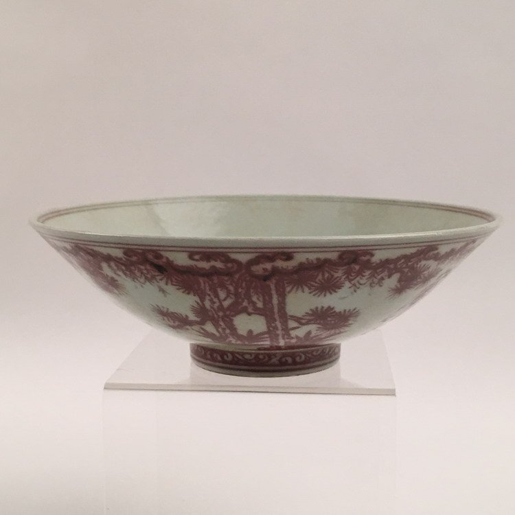 Chinese Copper Red Bowl