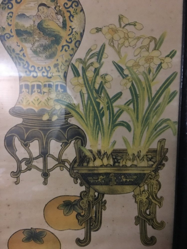 A Set of Two Watercolor Painting with Frames - 4