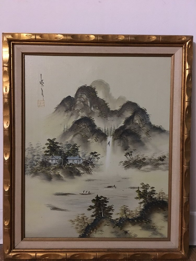 Chinese Oil Painting with Frame - 2