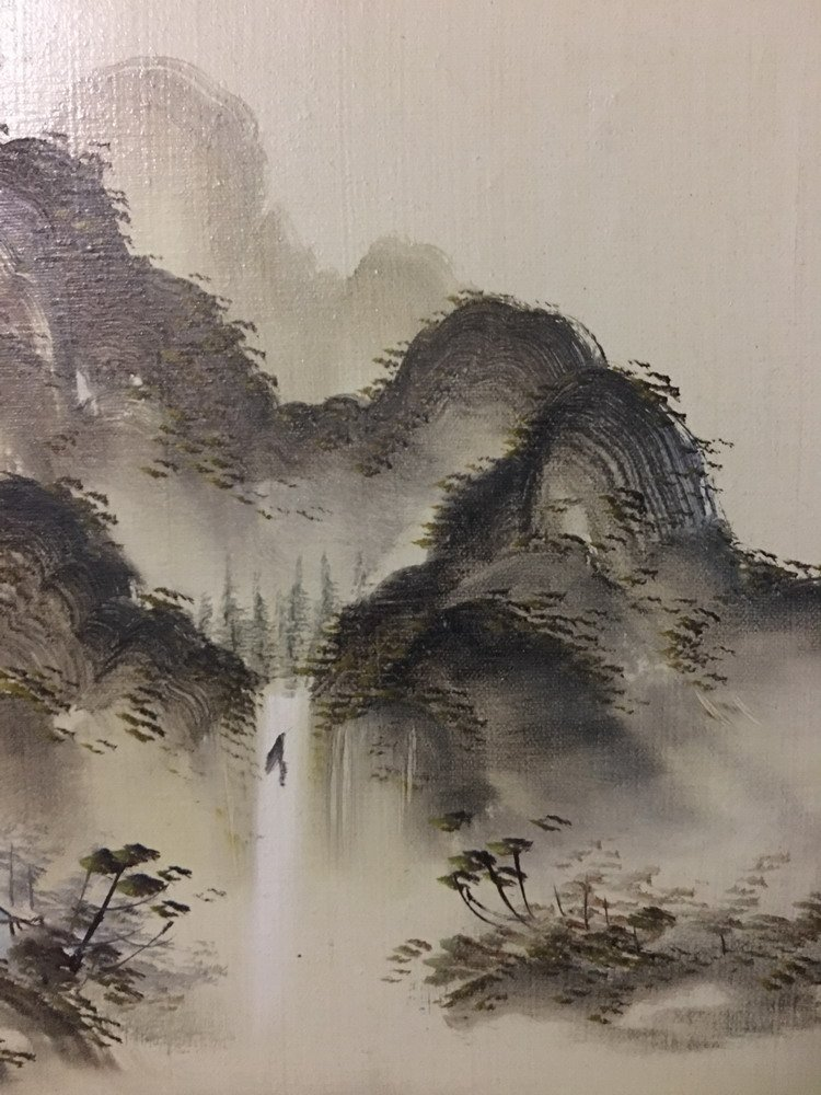Chinese Oil Painting with Frame - 4
