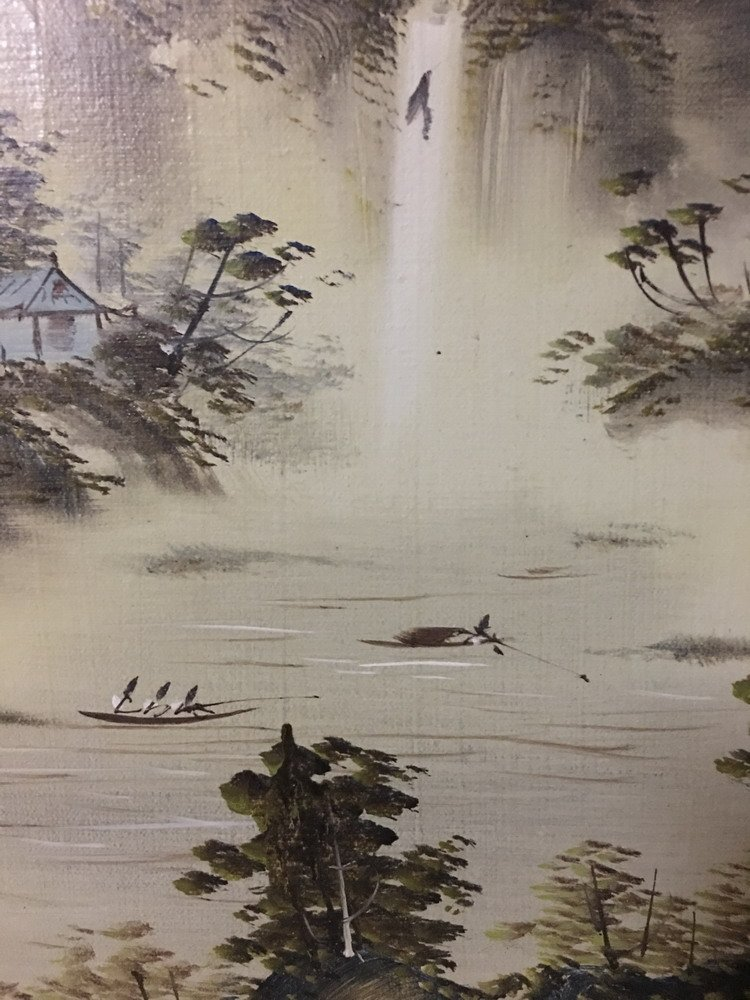 Chinese Oil Painting with Frame - 5
