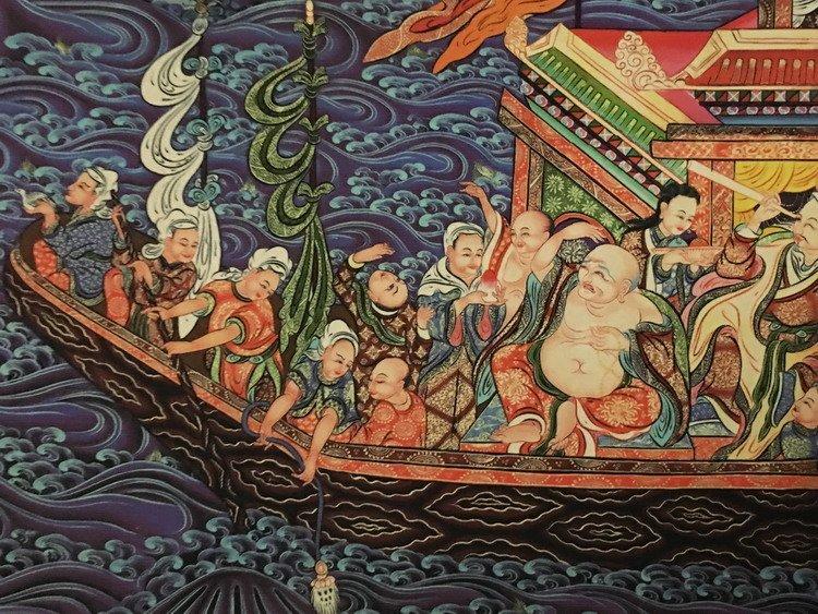 Fine Tibetan Thangka watercolor - 6