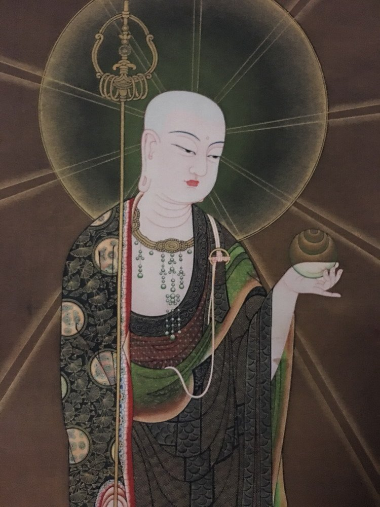 Fine Tibetan Thangka watercolor - 2