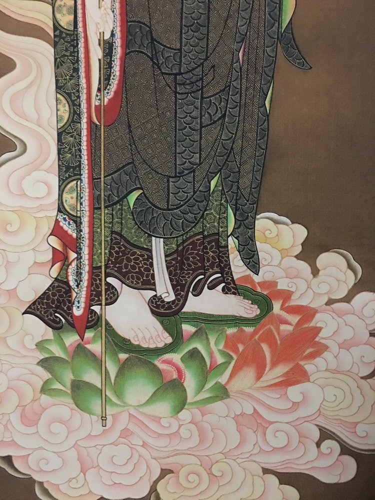 Fine Tibetan Thangka watercolor - 3