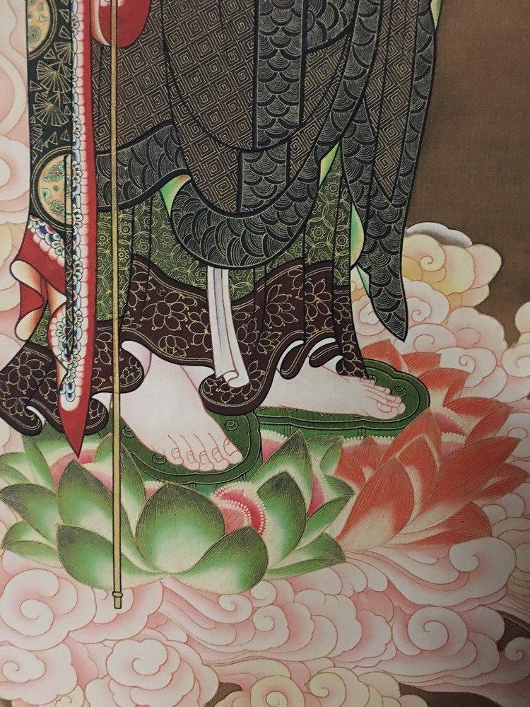 Fine Tibetan Thangka watercolor - 5