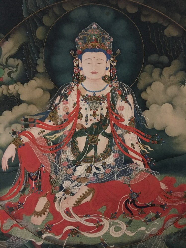 Fine Tibetan Thangka watercolor - 2