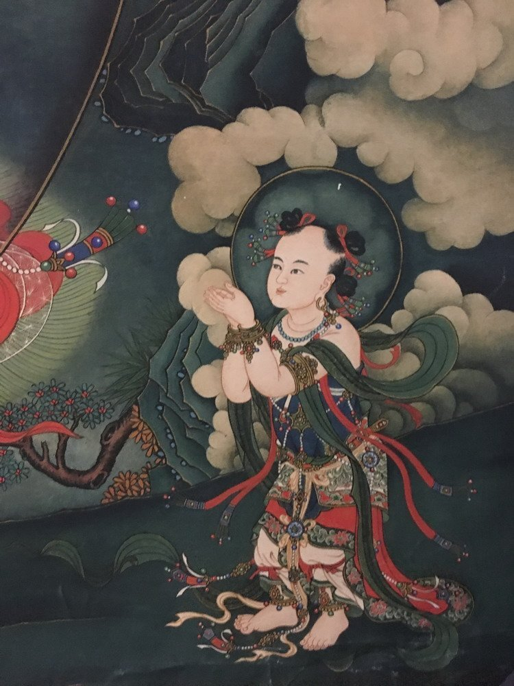 Fine Tibetan Thangka watercolor - 5