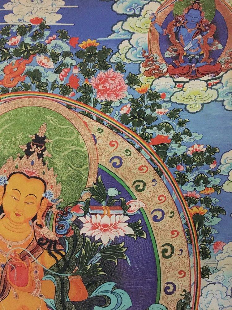 Fine Tibetan Thangka watercolor - 4