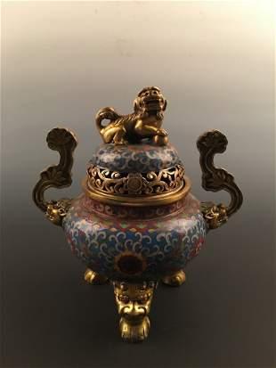 Chinese Enamel Double Gourd Vase