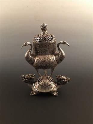 Fine Chinese Silver Censer