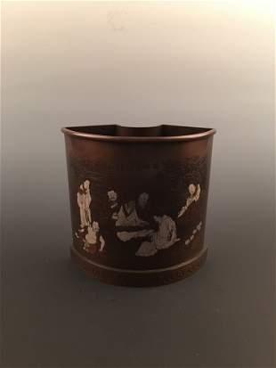 Fine Chinese Bronze Brush Pot