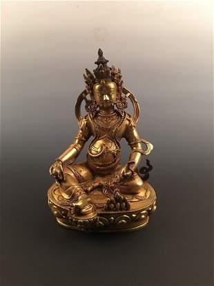 Fine Tibetan Gilt Bronze Fiqure