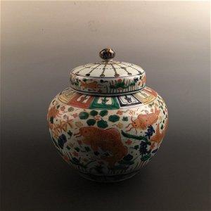 Fine Chinese Wucai Fish Jar