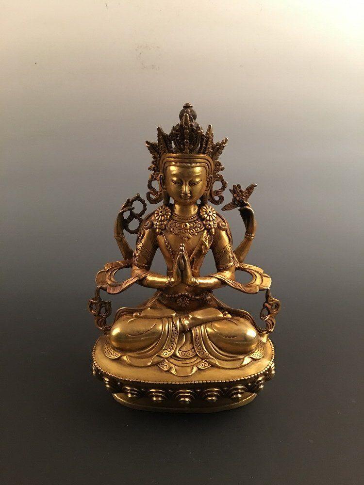 Fine Chinese Gilt Bronze Buddha
