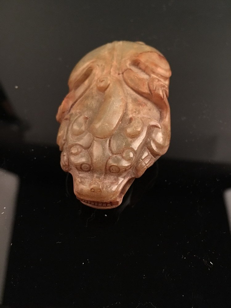 Fine Chinese Ancient Jade Bixie