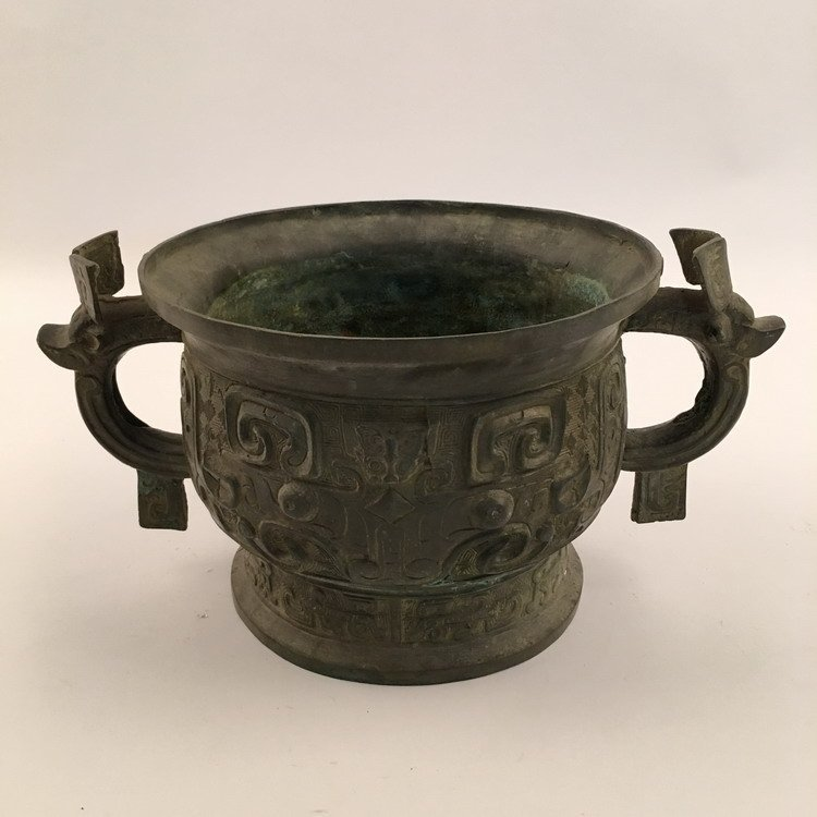 Chinese Zhou Bronze Vessel - 4