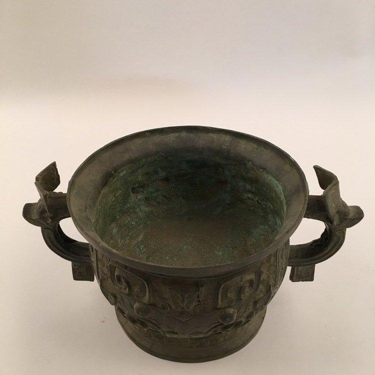 Chinese Zhou Bronze Vessel - 5