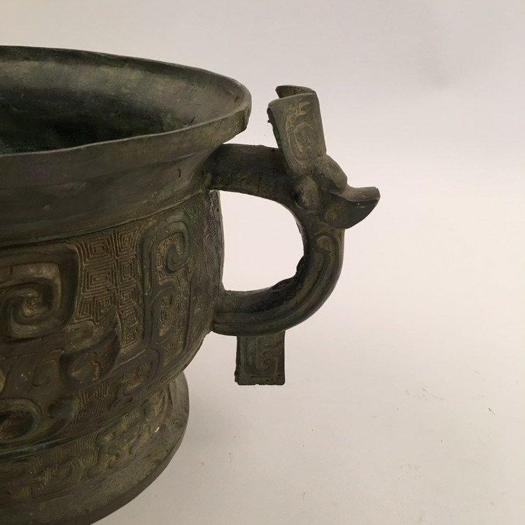 Chinese Zhou Bronze Vessel - 6