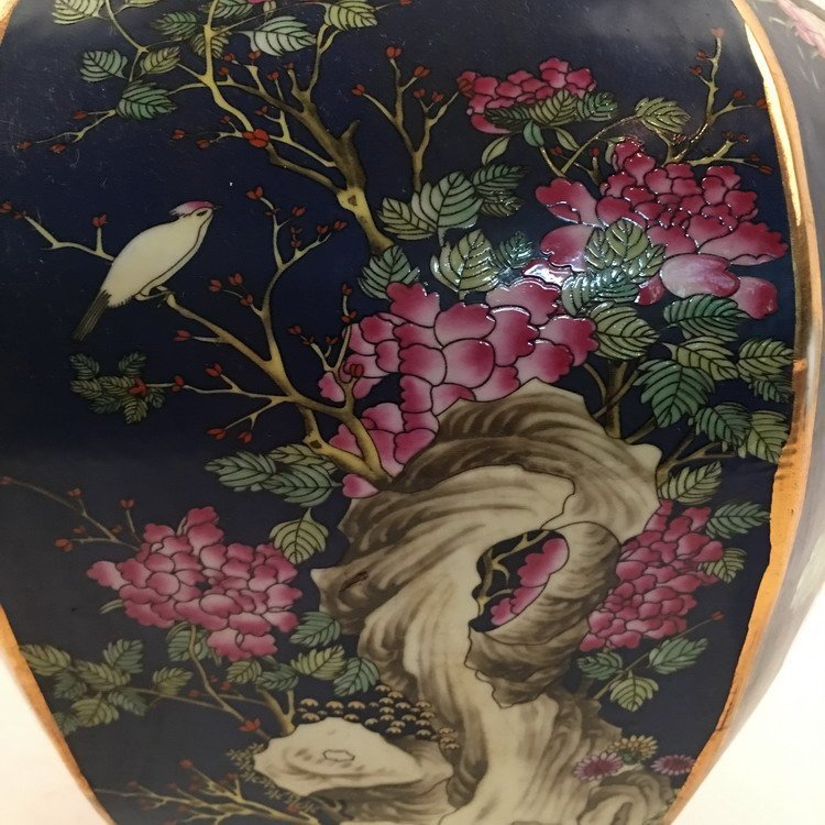 Chinese Famille Rose Bird Vase - 4