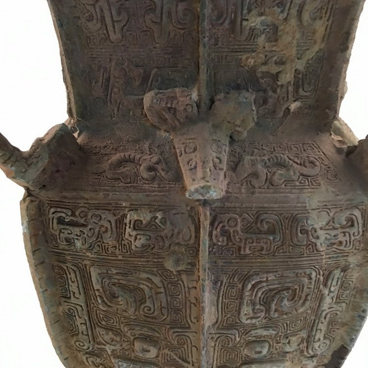 Chinese Han Bronze Food Container - 4