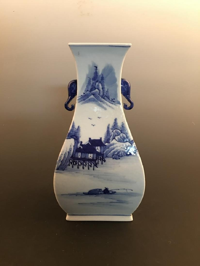 Chinese Blue and White Vase with Jiaqing Mark