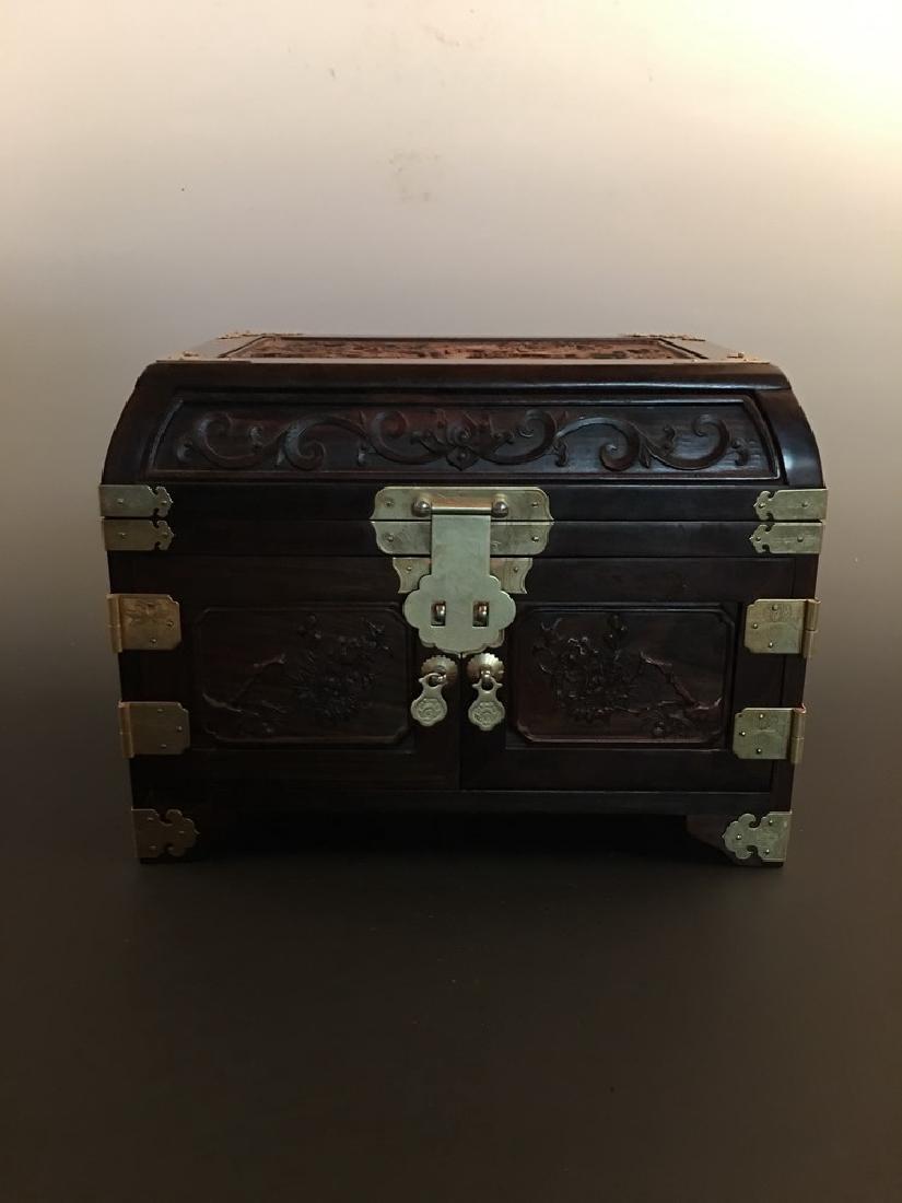 Fine Zitan Wood Jewelry Box