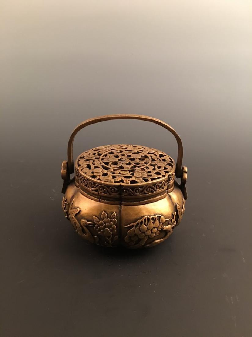 Chinese Bronze Warm Hand Charcoal Stove