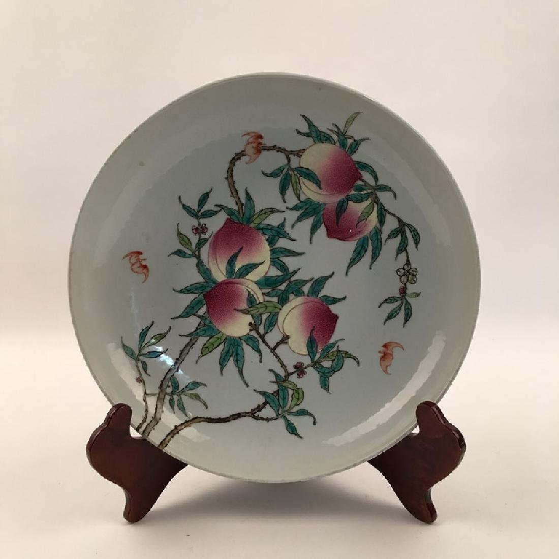 Fine Chinese Dish with Peach Design