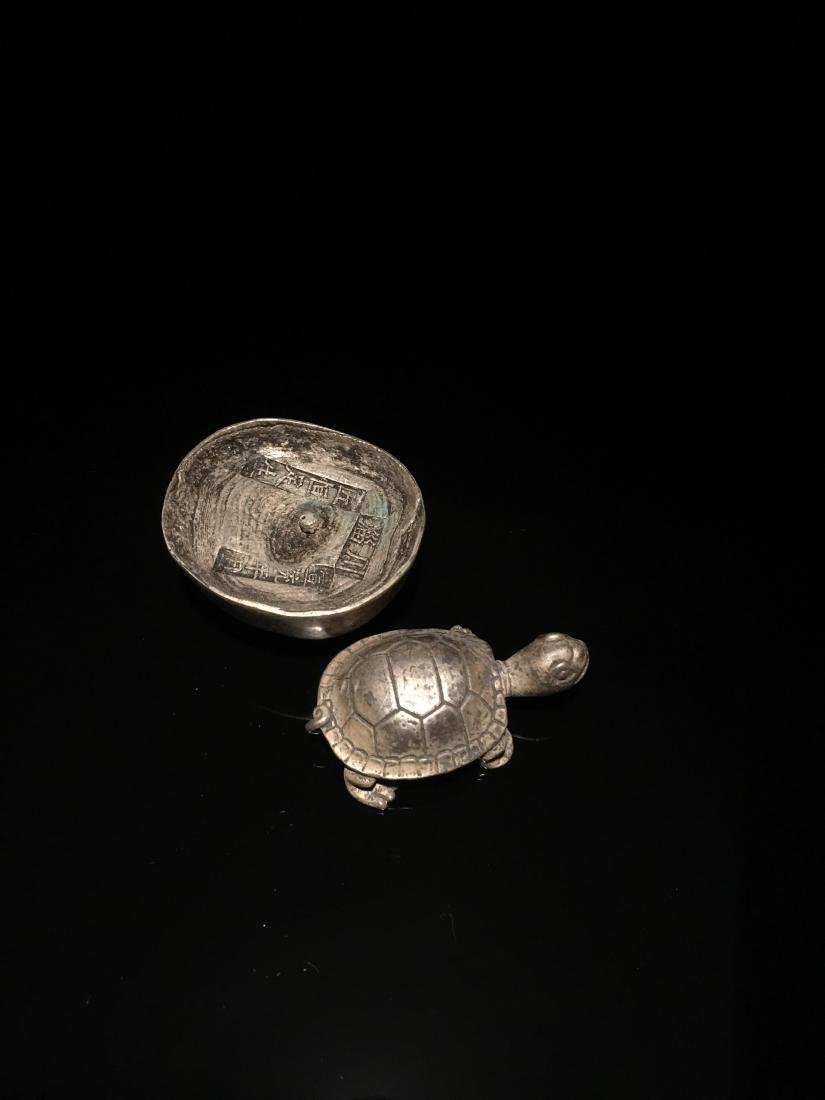2 Pieces Chinese Yuanbao & Turtle