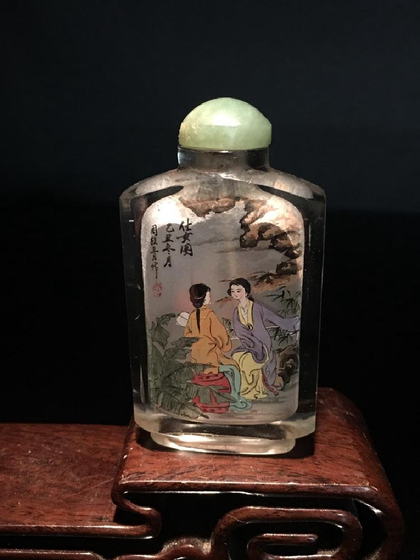 Fine Chinese Glasse Painting Snuff Bottle