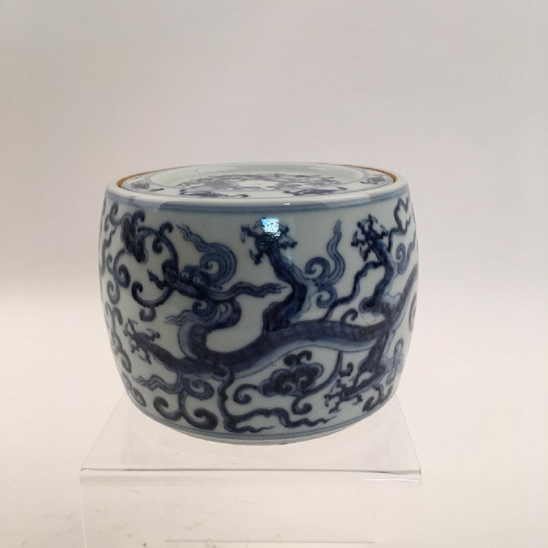 Chinese Blue and white Dragon Box