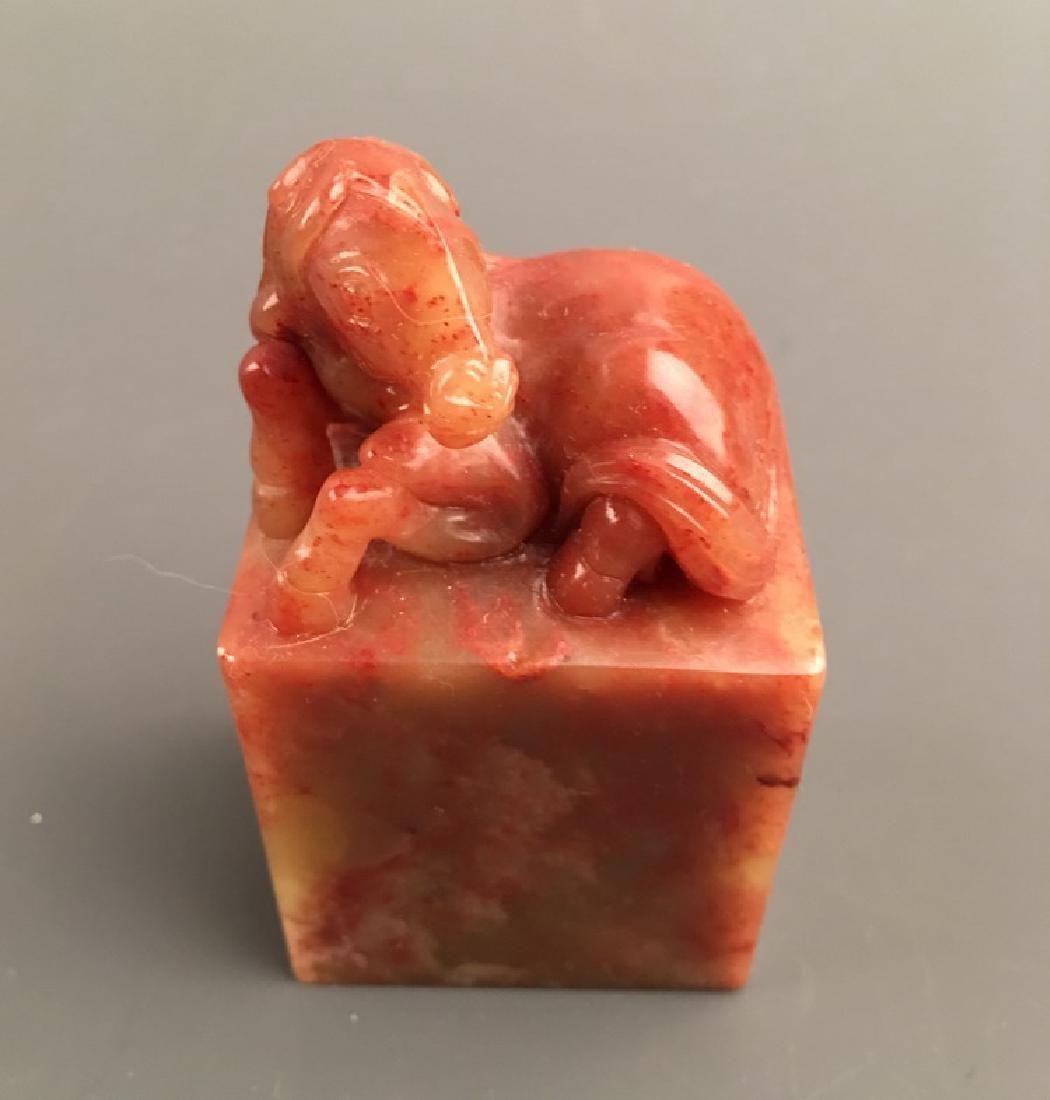 Fine Shoushan Stone Horse Seal