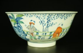 Chinese Dou-cai Porcelain Bowl