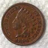 1894 /1894 1C SNOW VARIETY CHXF45 SHARP CRSIP DETAIL