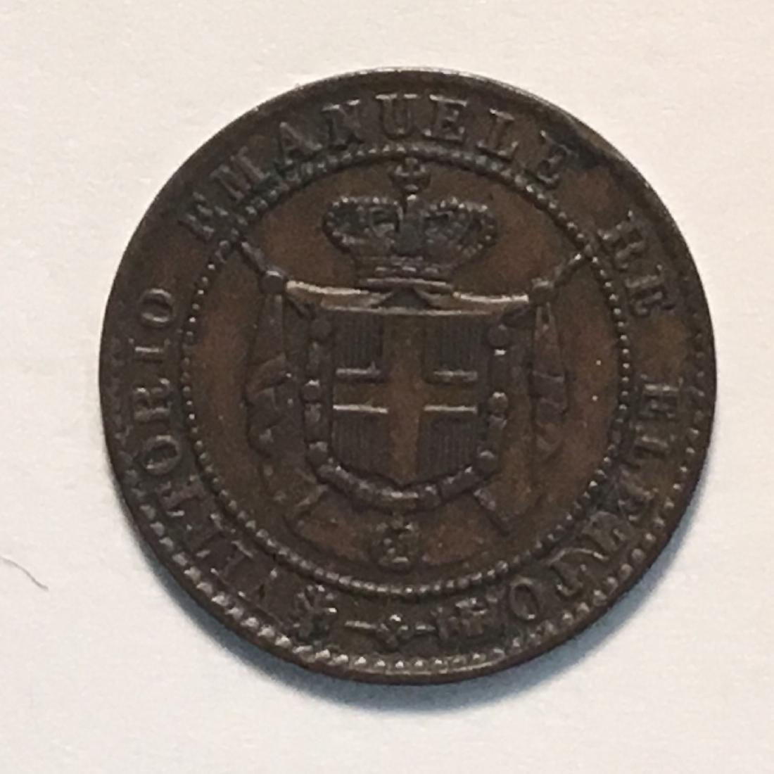 1859 ITALIAN STATES- TUSCANY 1C XF-AU PROVISIONAL
