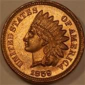 1859 1C MS64 BRILLIANT, NEAR GEM!