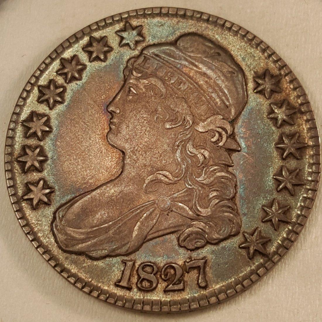 1827 50C CHAU55 GREAT COLOR, VERY CHOICE.