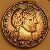 1897 50C VF TONED