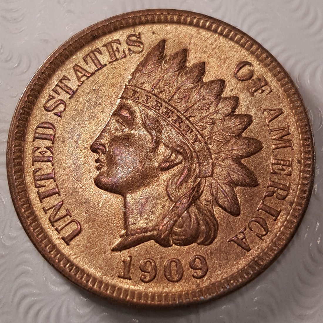 1909 -S 1C INDIAN MS64+ RED