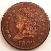 1809 1/2 CENT F