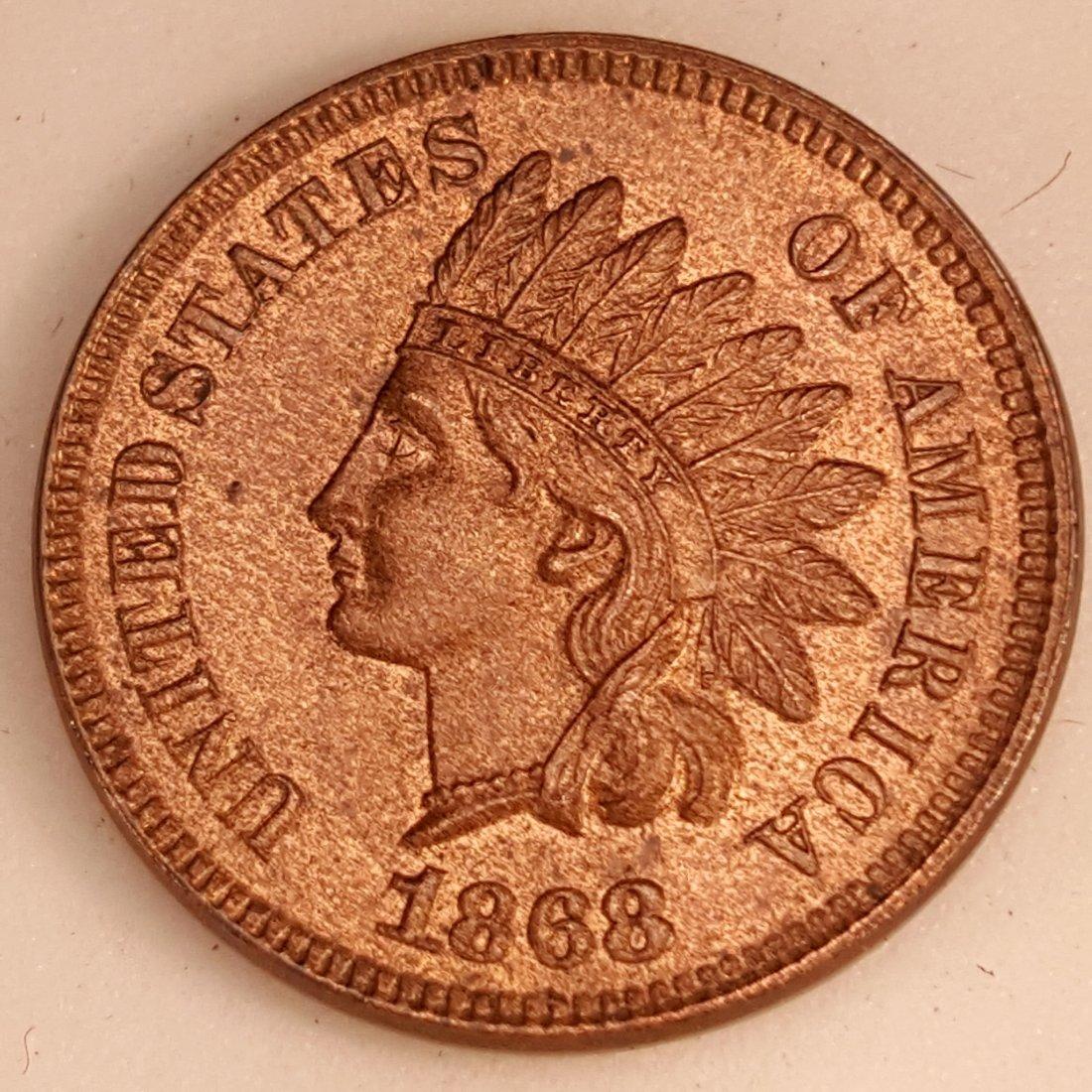 1868 1C MS64 RB BRILLIANT